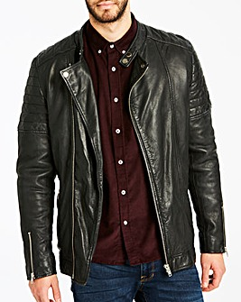 Black Smart Leather Jacket R