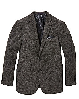 Jacamo Black Textured Slim Blazer L
