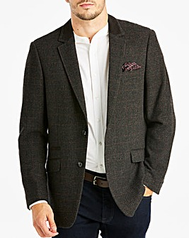 Grey Check Tweed Blazer Long