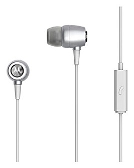 Motorola Wired Headphones Silver