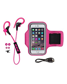 KITSOUND Wireless Sports Bundle Pink