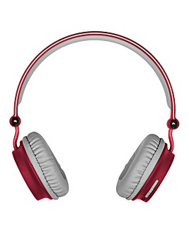 KITSOUND Metro Wireless Headphones Red
