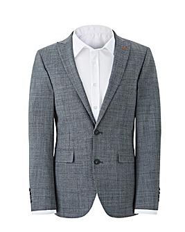 Grey Shape Memory Yarn Textured Jacket L