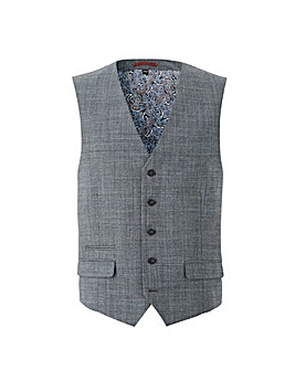 Flintoff By Jacamo Textured Waistcoat