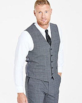 Grey Shape Memory Yarn Waistcoat