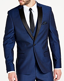 Navy Slim Textured Dinner Jacket R
