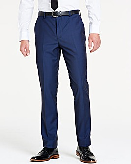 Navy Slim Textured Dinner Trousers S