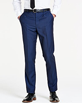 Navy Slim Textured Dinner Trousers R