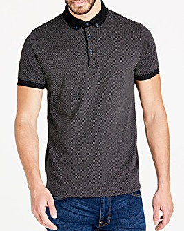 Black Label Black S/S Polka Dot Polo R