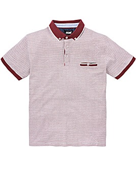 Black Label Berry S/S Geo Print Polo R