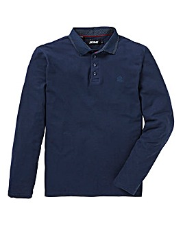 Navy L/S Stretch Polo L