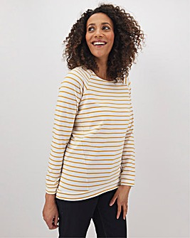 Stripe Raglan Sweatshirt