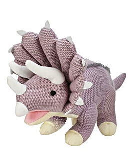 Knitted Triceratops 19in