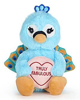 Love Hearts - Peacock 'Truly Fabulous' Plush