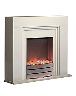 Warmlite Cantebury Ivory Electric Fire
