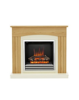 Be Modern Linmere Oak Timber Electric Fire Suite