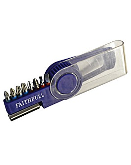 Faithfull Screw Bit Set 9Pc