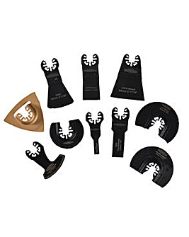 Faithfull Multi Tool Blade Set 10Pc Case