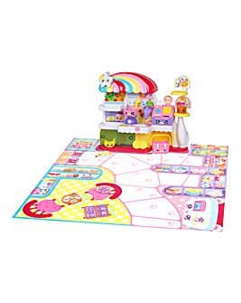Kindi Kids Kitty Petkin Supermarket, 2 Shopkins and Vinyl Playmat