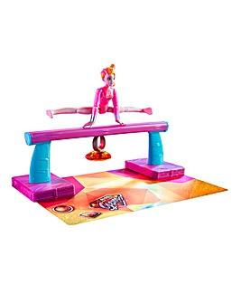 Team GEM MagicGemtastic Balance Beam and Amber Gymnast Doll