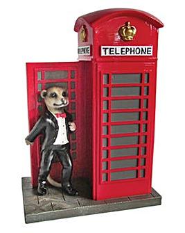 Gardenwize Meerkat Phone Box Ornament