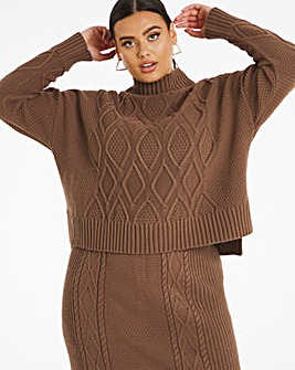 Chocolate Co Ord Cable Jumper