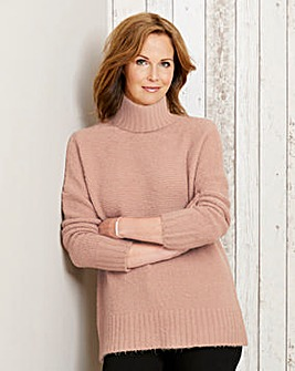 Textured Roll Neck Jumper