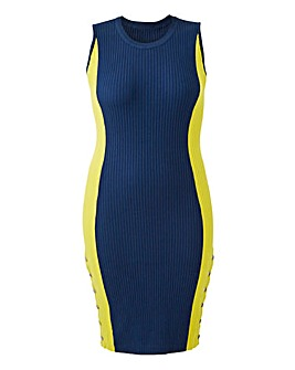 Sporty Rib Knitted Dress