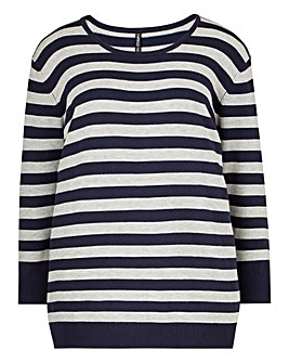 Crew Neck Striped Jumper