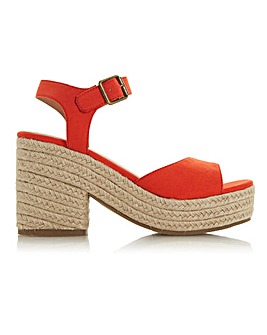Head Over Heels Kace Jute Cross Strap Wedge Sandals