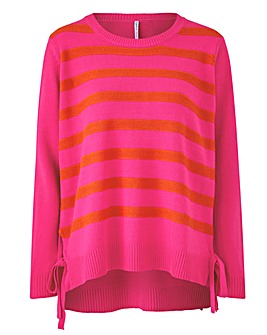 Stripe Tie Side Jumper