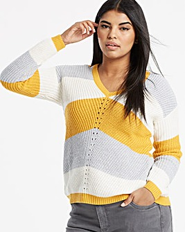 Saffron Chevron Stripe Jumper