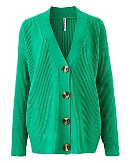 Green Boxy Cardigan