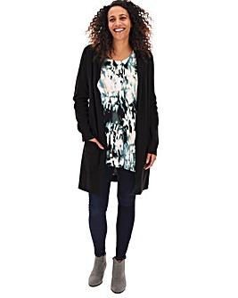 Black Smart Knitted Coatigan