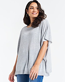 Grey Marl Supersoft Poncho