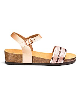 Scholl Ivette Sling Back Sandals Wide E Fit