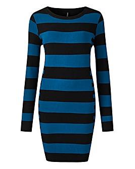 Black/Teal Illusion Stripe Tunic
