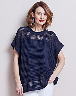 Pointelle Stitch Poncho