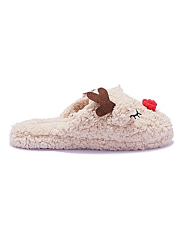 Reindeer Mule Slipper Standard Fit