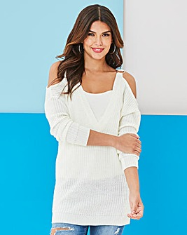 Value O-Ring Detail Cold Shoulder Jumper