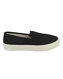 Canvas Slip On Pump Standard Fit