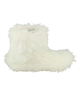 Faux Fur Bootie Slipper Standard Fit