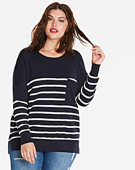 Boxy Jumper with Pocket Detail