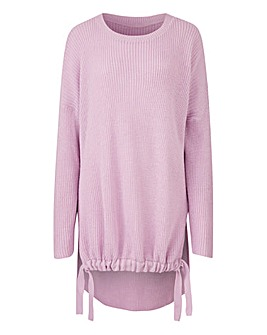Ruched Front Tie Jumper