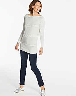 Cable Bardot Tunic