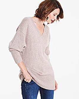 Balloon Sleeve V-Neck Tunic