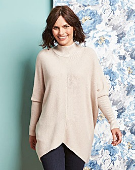 High Neck Ribbed Detail Jumper