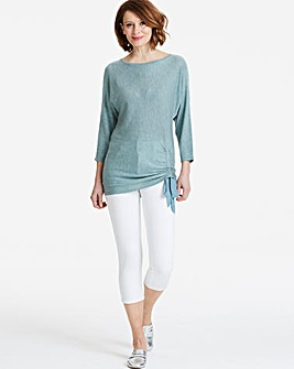 Ruched Drawstring Jumper