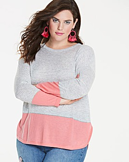 Grey/Pink Super Soft Premium Jumper