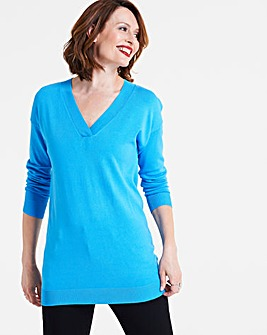 Deep V-Neck Tunic